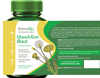 BotanIQ - Dandelion Root - Package Design Mockup