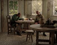 3D Medieval Tavern Interior 360° VR