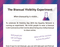 The Bisexual Visibility Experiment blog and leaflet