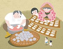 2016新竹米粉摃丸節-食尚粉好玩-視覺繪製與週邊設計