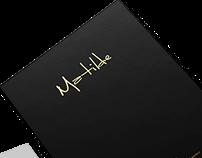 Diseño editorial de menú. RESTAURANTE MATILDE