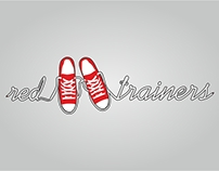 Red trainers logo