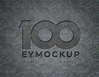 Free Engraved Logo Metal Plate Mockup