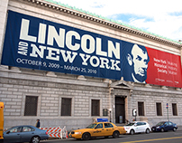 Facade banner of Lincoln and New York for N-YHS