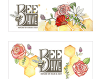 BeeHive Logo and Branding Design