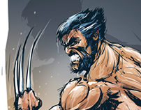 COMIC WOLVERINE CREATION PROCESS