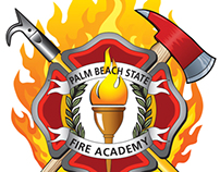 Palm Beach State College Fire Academy Logo & Patch