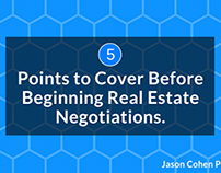 5 Points to Cover Before Beginning a Real Estate Negoti
