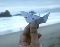 Photoshop Touch - Ocean Paper Boat