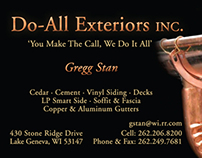 Do-All Exteriors Business Card