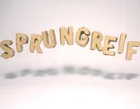 """""""SPRUNGREIF"""" title animation"""