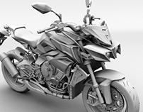 3D model-Yamaha mt-10 bike