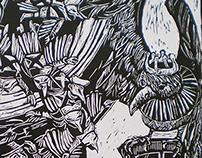 Illustration, lino cut