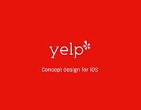 Yelp - Concept design for iOS