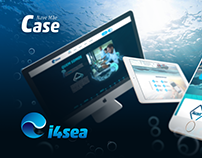 i4sea website and branding