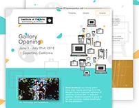 UI Design Challenge - Website for Art Gallery Opening