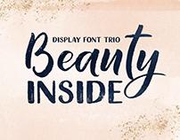 Beauty Inside Font Trio
