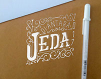 Lettering on Brown Paper