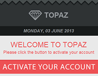 Topaz Account Activation email template