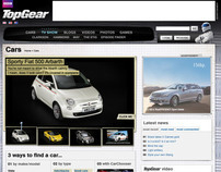 Top Gear Cars section