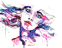 • Watercolor Woman 02 •