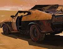(crop) Movie Shot color study from Mad Max