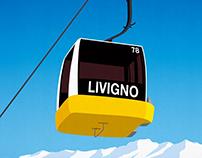Livigno Ski Resort Poster