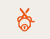 Barber Bear Logo Design