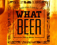 PACKAGING: Logo i ampolla vestida per What Beer