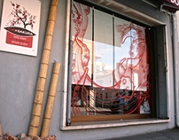 Japanese Restaurant - Window artwork