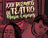 Cartaz premios de teatro María Casares