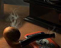 Sherlock Holmes 3D Scene