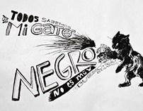 Lettering gato negro