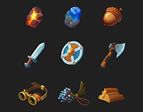 Ingame inventory items
