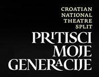 Pritisci moje generacije - Theatre performance identity