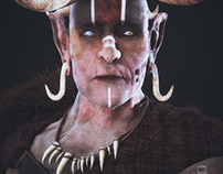 Shaman Personal work developed for studies, concept of
