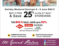Summer Holiday | The Grand Palace Dept. Store
