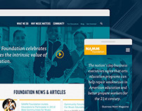 NAMM Foundation responsive redesign