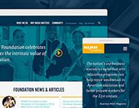 NAMM Foundation responsive redesign