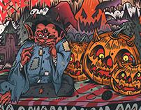 Halloween stage