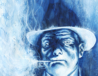 Illustration - Blue Mobster                (with video)