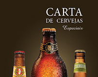Carta de cervejas especiais