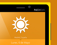 Windows Phone weather app
