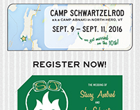 DIY Camp Wedding - Print & Web Design