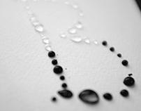 rain typeface: drops