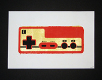 Nintendo Controllers Screen Prints