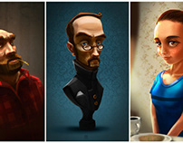 - three characters -
