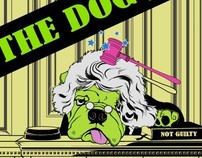 [Freeze ! hands up ]&[The dog judge] T-shirt Design
