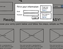 Low Fidelity Frames/Screens