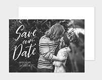 Save the Date Card Template - Stylish Script